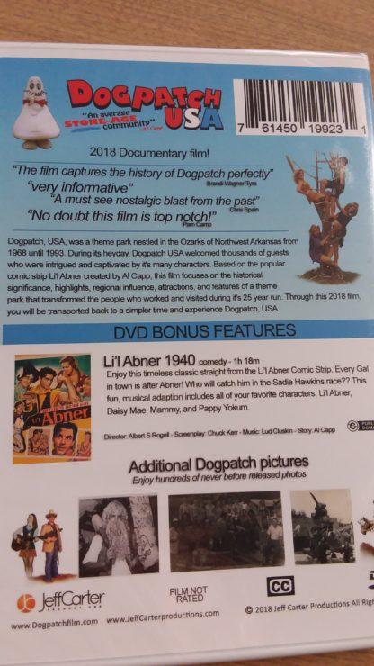 Dogpatch DVD back